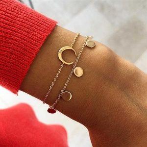 *DALEYZA* 2-Pc Gold Crescent Fashion Bracelet Set